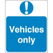 Mandatory Safety Sign - Vehicles Only 167